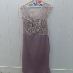 Jim Hjelm Occasions Purple 3/4 Dress
